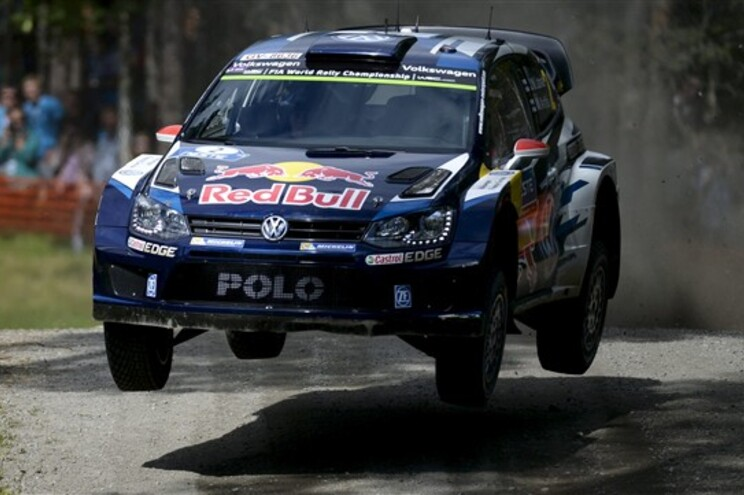 Veículo do finlandês Jari-Matti Latvala (Volkswagen Polo-R)