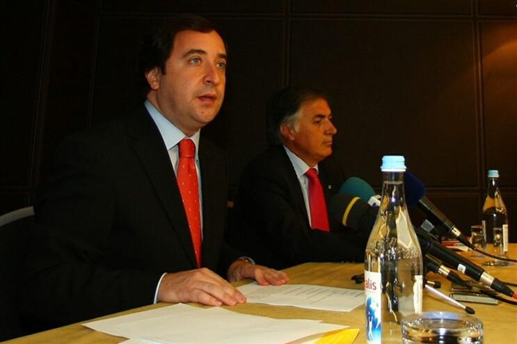 Bruno de Carvalho durante uma conferência de imprensa em 2009