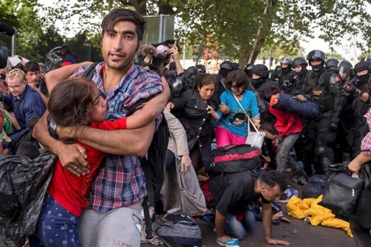 A fronteira entre a Hungria e a Sérvia era um importante ponto de passagem para a Europa para os migrantes