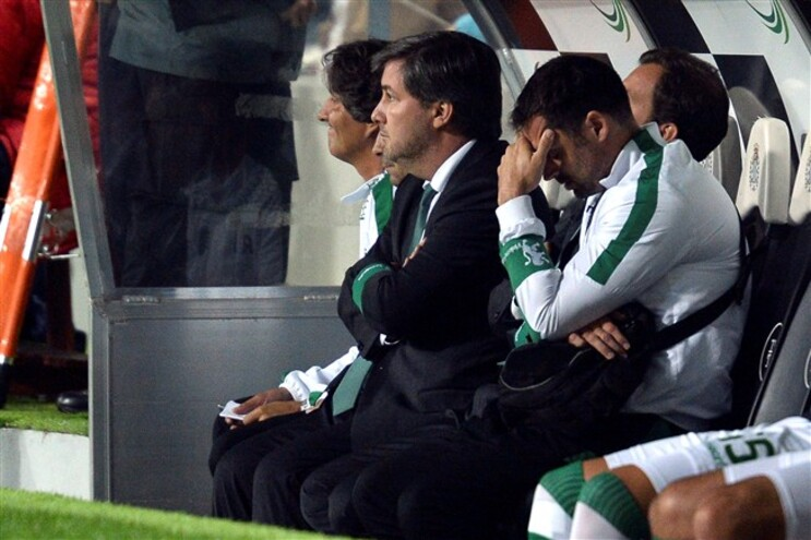 Bruno de Carvalho esteve no banco, no Bessa, e no final criticou fortemente a arbitragem do Boavista