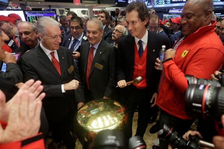 Ferrari estreia-se na bolsa de Nova Iorque em alta