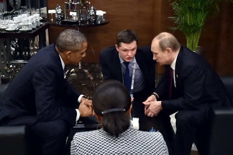 Obama e Putin à margem da Cimeira do G20