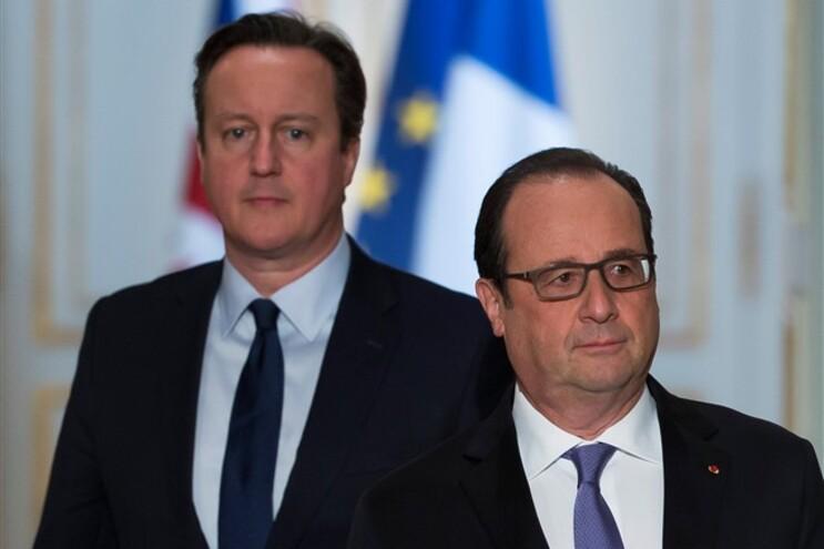 David Cameron e François Hollande