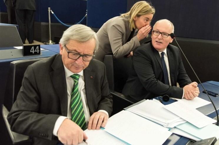Presidente da Comissão Europeia, Jean-Claude Juncker, no Parlamento Europeu