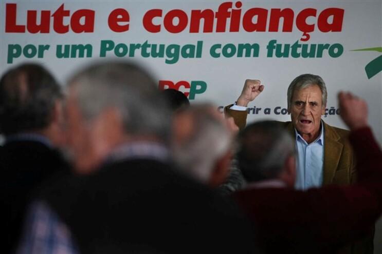 Jerónimo de Sousa num encontro com militantes em Aveiras de Cima, Azambuja