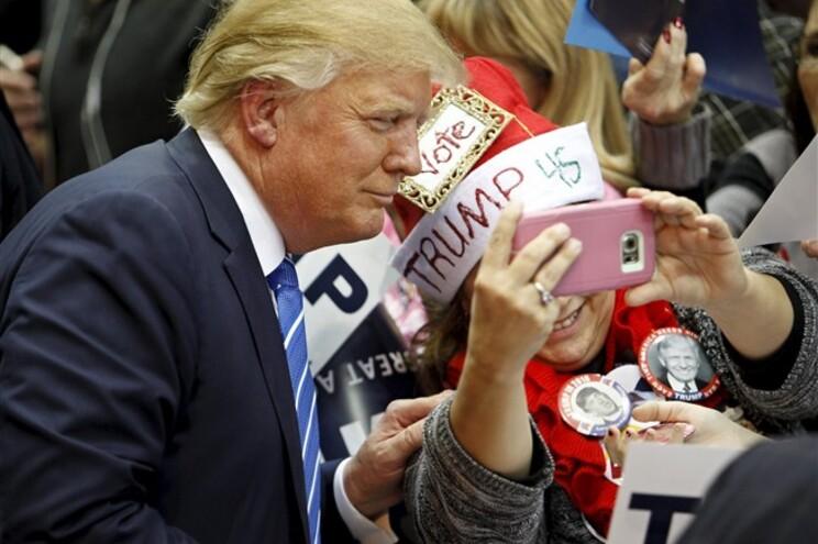 O candidato republicano à presidência dos EUA Donald Trump