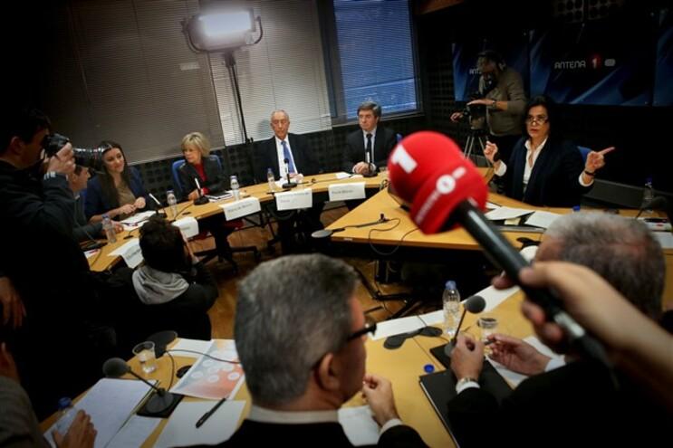 Debate com os 1o candidatos presidenciais na Antena 1, no dia 4 de janeiro