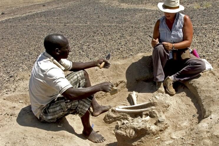A descoberta foi feita em Nataruk, perto do Lago Turkana no Quénia