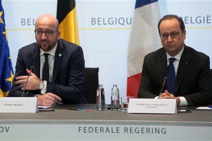 Charles Michel e François Hollande