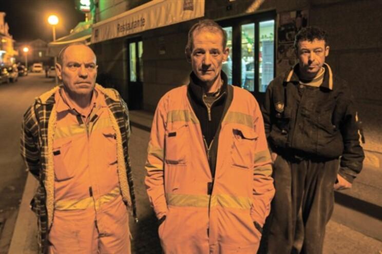 José Oliveira, Manuel Conceição e Manuel Joaquim trabalham no Túnel do Marão