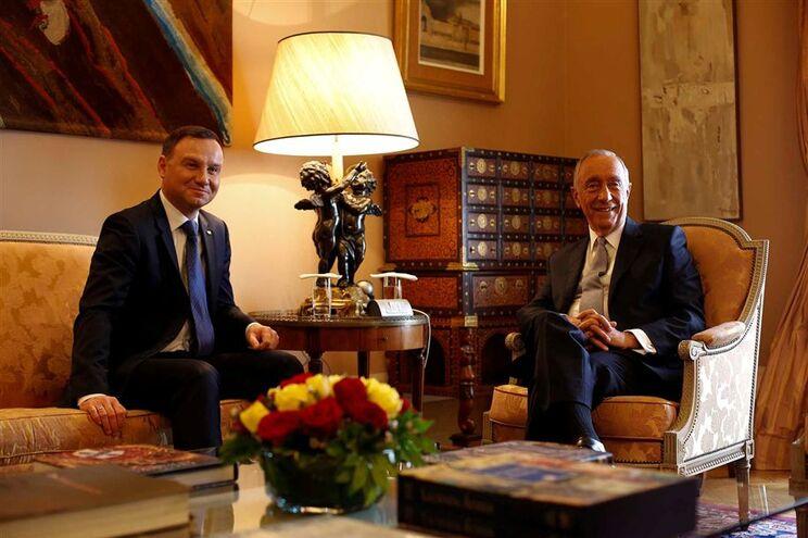 Marcelo recebeu o presidente polaco