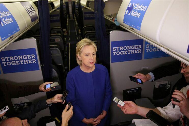 Candidata democrata à Casa Branca, Hillary Clinton