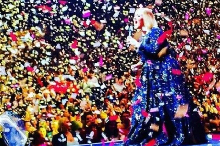 Caíram do céu declarações de amor para Adele