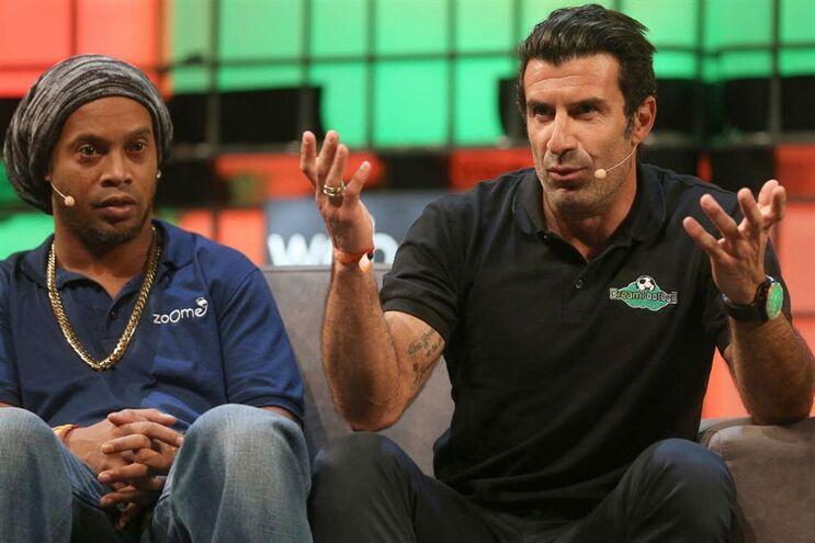 Figo e Ronaldinho juntos na Web Summit