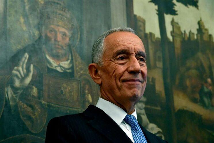 O Presidente da República durante uma visita ao Museu Nacional Grão Vasco, em Viseu, a 8 de novembro