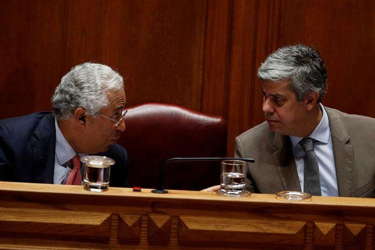 Primeiro-ministro António Costa e ministro das Finanças Mário Centeno
