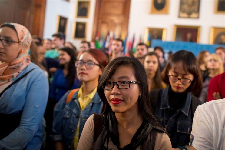 Receção a alunos de Erasmus na Universidade do Porto (2015)