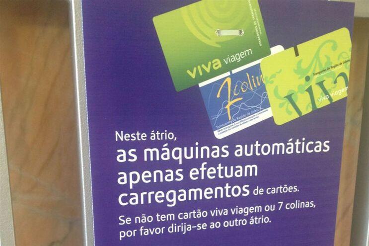 Máquinas apenas aceitavam carregamentos e não vendiam cartões desde setembro