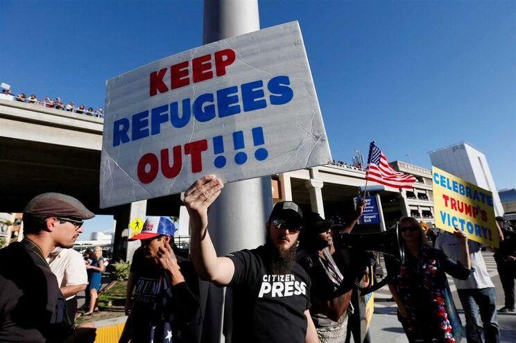 Mantifestantes pró-Trump, Los Angeles, Califórnia