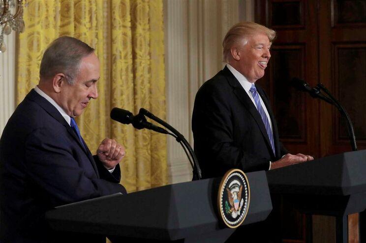 Donald Trump recebeu Benjamin Netanyahu na Casa Branca