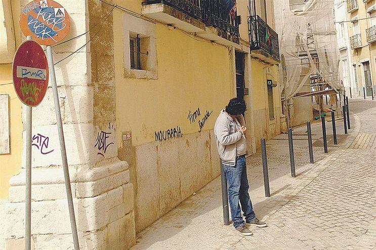 Prédio da Rua dos Lagares, onde 40 pessoas enfrentam o risco de perder a casa