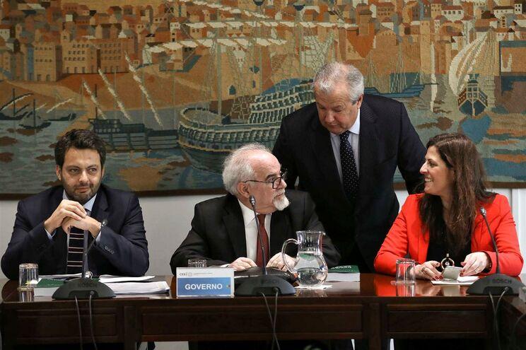 O ministro do Trabalho Solidariedade e Segurança Social durante a reunião da Comissão Permanente de Concertação