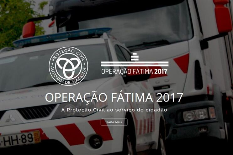 Página inicial da plataforma digital para apoiar os peregrinos