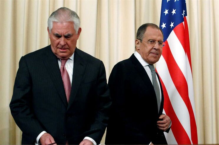 Rex Tillerson e Serguei Lavrov