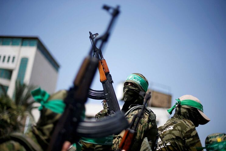 Militantes do movimento palestiniano Hamas