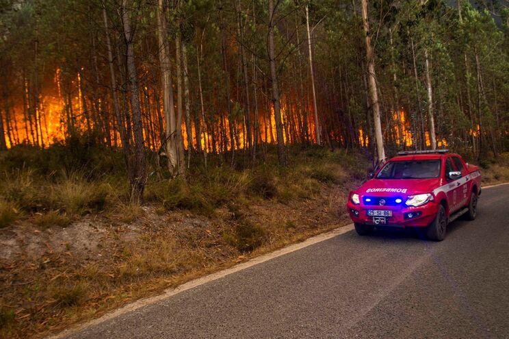 Incêndio está a lavrar desde as 19.40 horas na localidade de Barqueiro