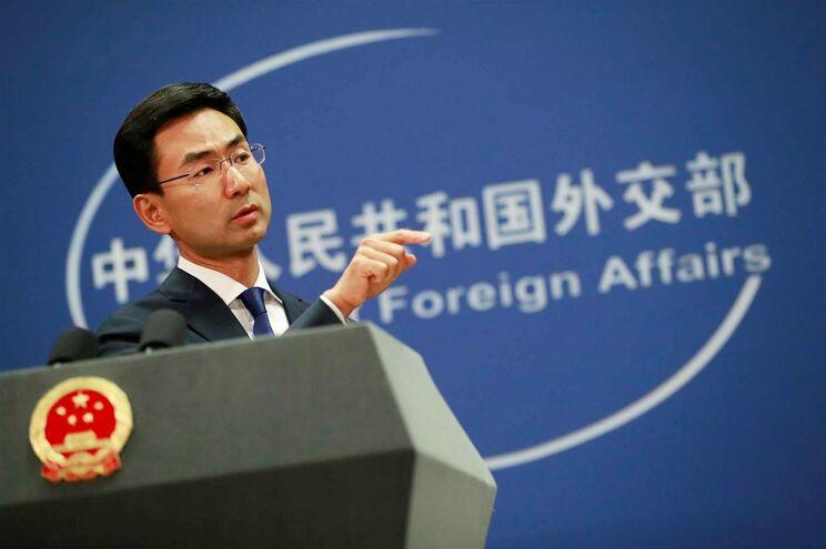 Geng Shuang, porta-voz do ministério chinês dos Negócios Estrangeiros