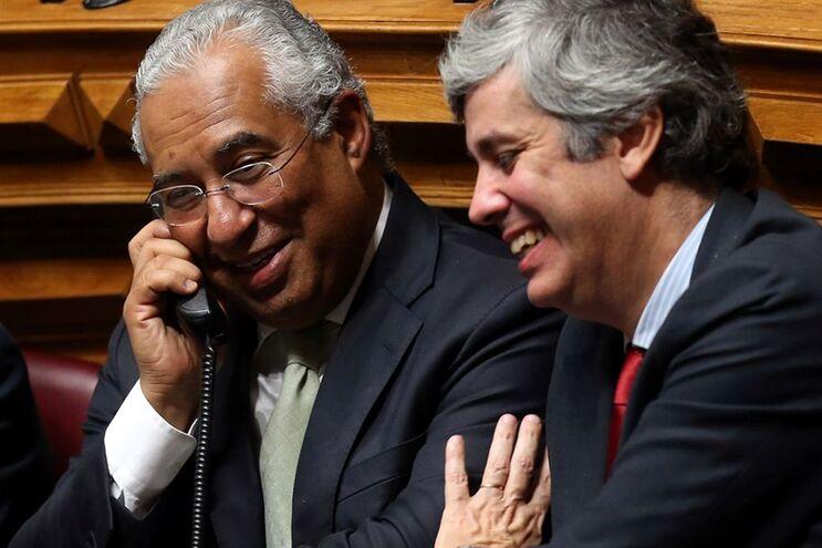 Primeiro-ministro António Costa e o ministro das Finanças Mário Centeno