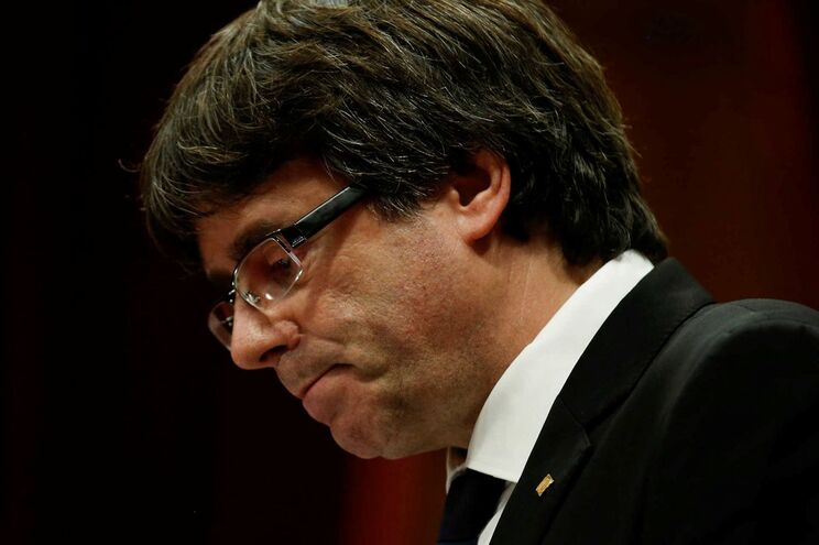 O presidente do Governo regional da Catalunha, Carles Puigdemont