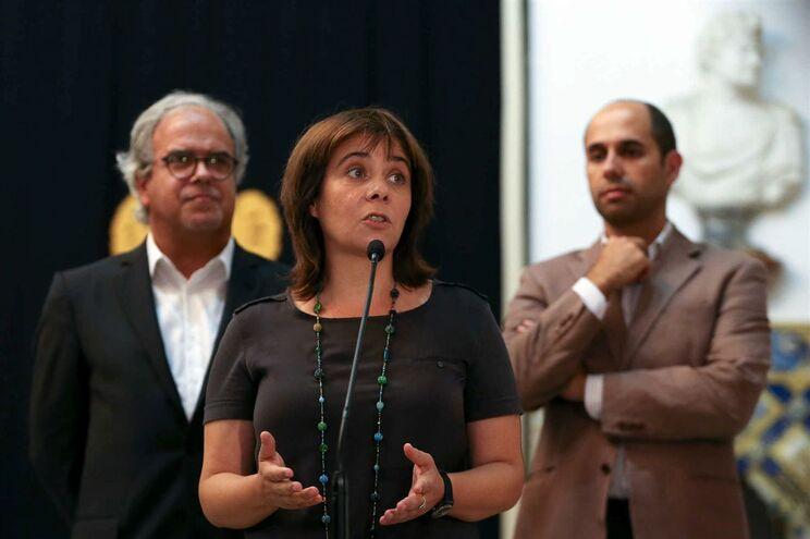 Pedro Filipe Soares (à direita), tomou a palavra pelo BE para comentar a demissão da ministra