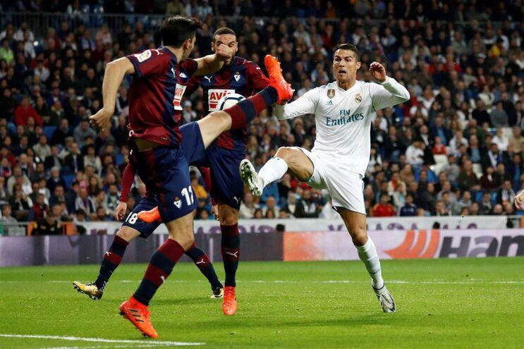 Cristiano Ronaldo ficou em branco na vitória do Real Madrid frente ao Eibar