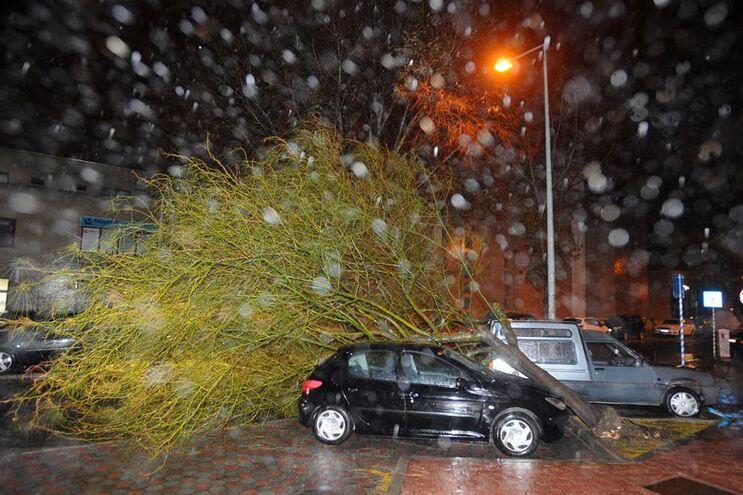 Tempestade Ana no início deste mês, em Carnaxide