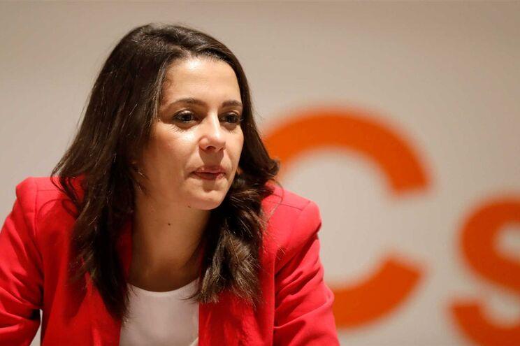 A candidata do partido Cidadãos na Catalunha, Inés Arrimadas
