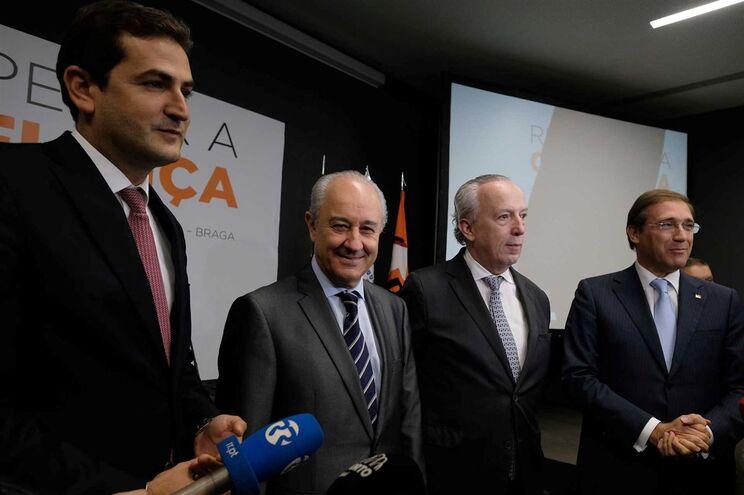 Hugo Soares, Rui Rio, Santana Lopes e Pedro Passos Coelho