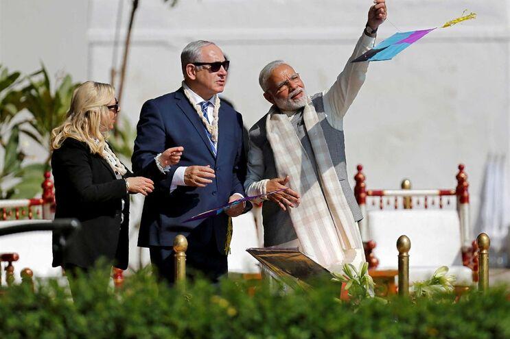 Lançamento de míssil ocorre durante visita de Estado do primeiro-ministro israelita, Benjamin Netanyahu