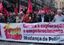 Protestos contra o governo no 1º de Maio no Porto