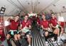 A equipa das quinas viajou para aquele principado a bordo de um avião militar, um C-295 de duas hélices
