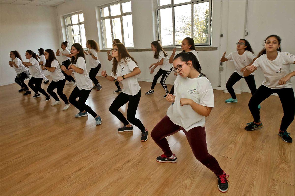 O grupo mais avançado exibiu uma coreografia com um grau de dificuldade mais elevado