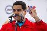 O presidente venezuelano após a votação