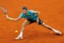 epa05290934 Portuguese tennis player Joao Sousa returns a ball to US Jack Sock during their Mutua Madrid