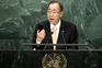 Secretário-geral das Nações Unidas, Ban Ki-moon, na abertura da sessão anual da Assembleia-geral da ONU