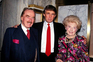 Donald Trump com os pais