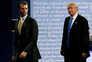 Presidente norte-americano, Donald Trump, com o filho mais velho, Donald Trump Jr.