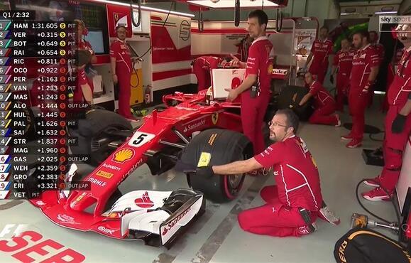 Sebastian Vettel lamenta