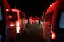 Várias ambulâncias prontas a retirar os doentes em estado crítico