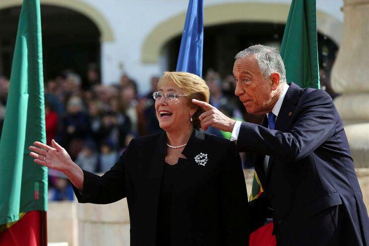 Michelle Bachelet com o presidente da República Marcelo Rebelo de Sousa